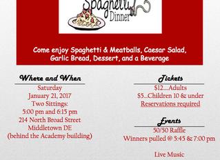 Spaghetti Dinner - January 21, 2017