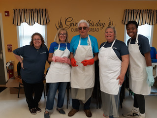 Love of Christ Church's Day of Service at Our Daily Bread