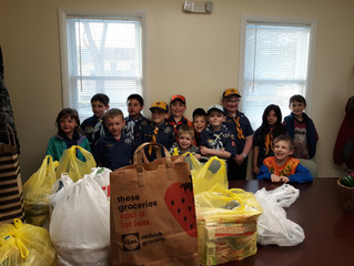 Townsend Cub Scout Pack 351 Donates to Our Daily Bread