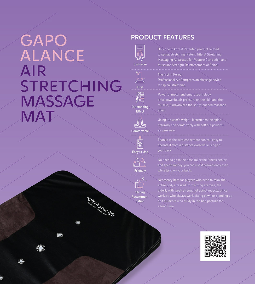 Gapo Alance Air stretching massage mattress and Air Compression Massager