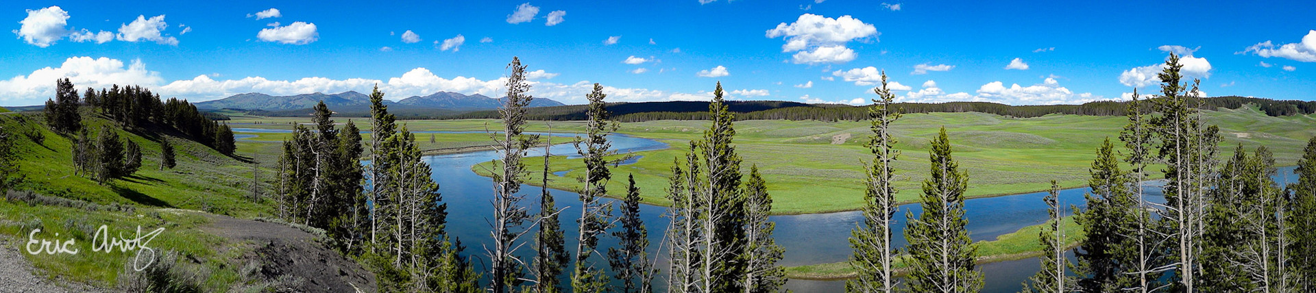 Hayden Valley Panorama, Yellowstone