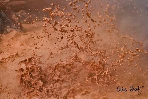 Mudpot Eruption, Yellowstone