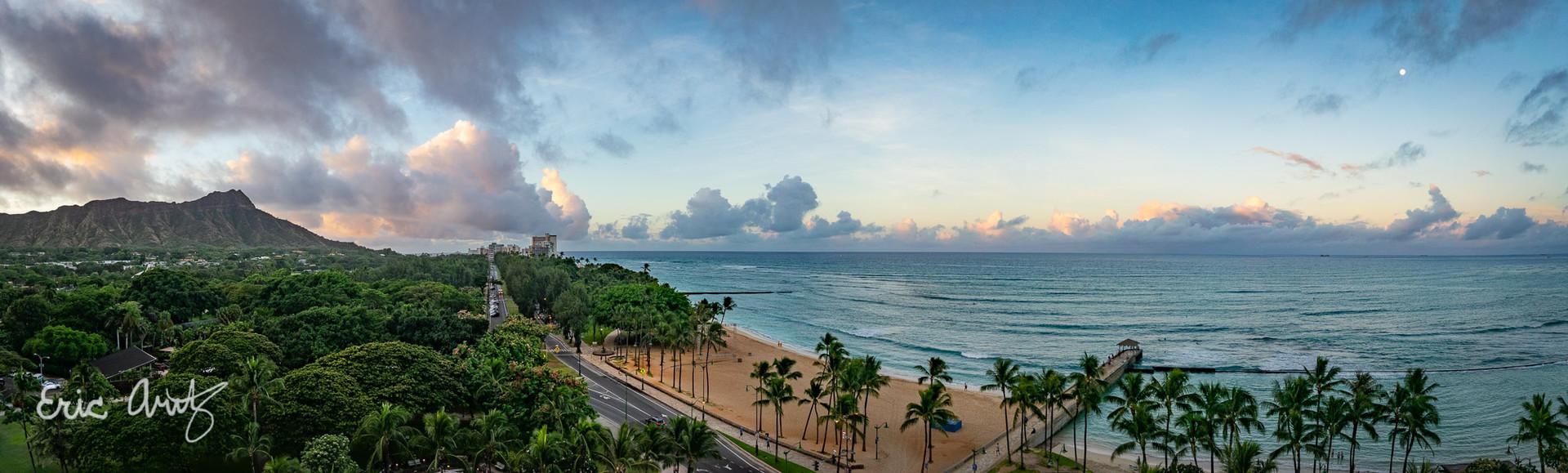 Twilight at Waikiki Beach