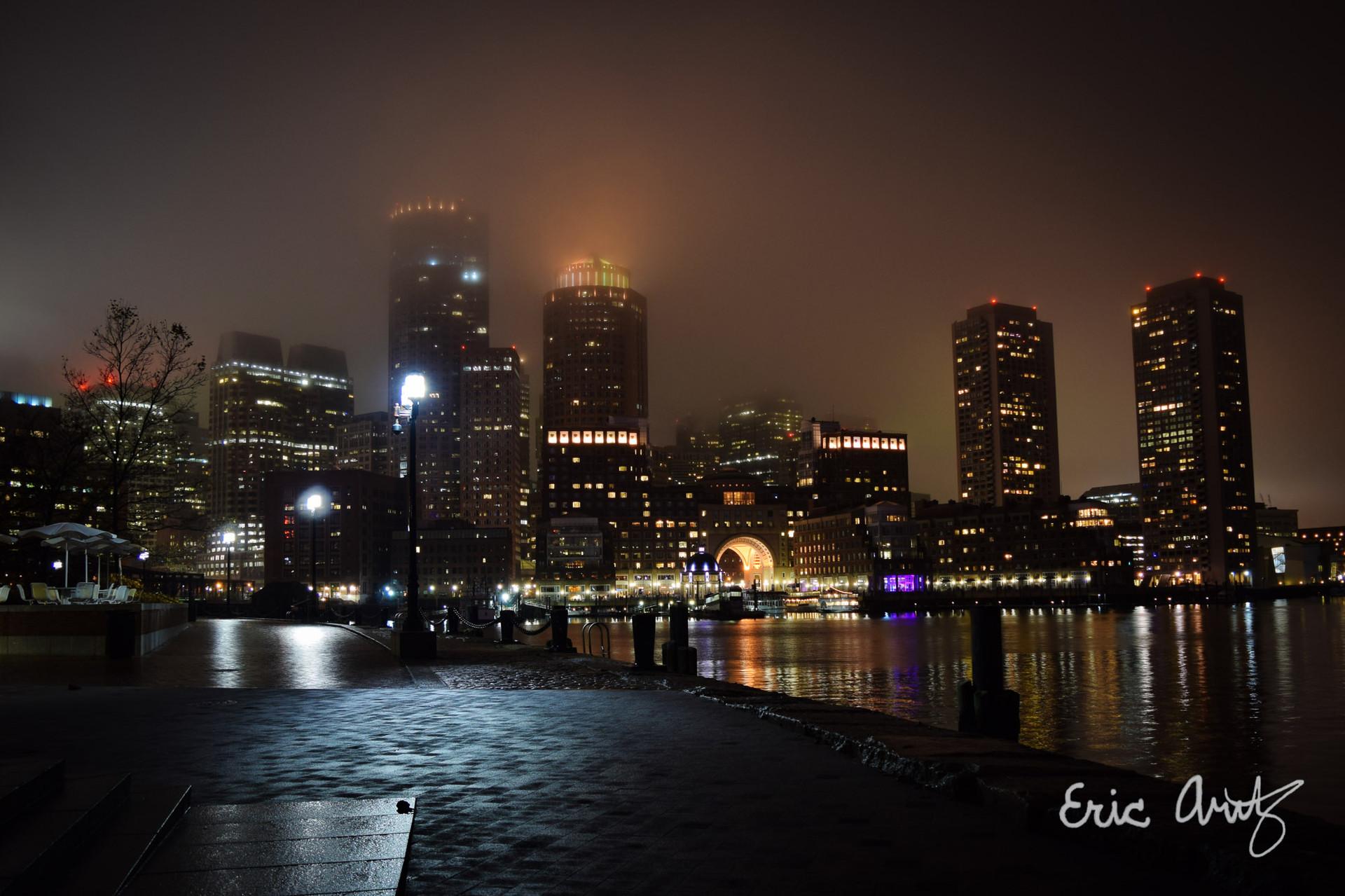 Fan Pier at Night, Boston