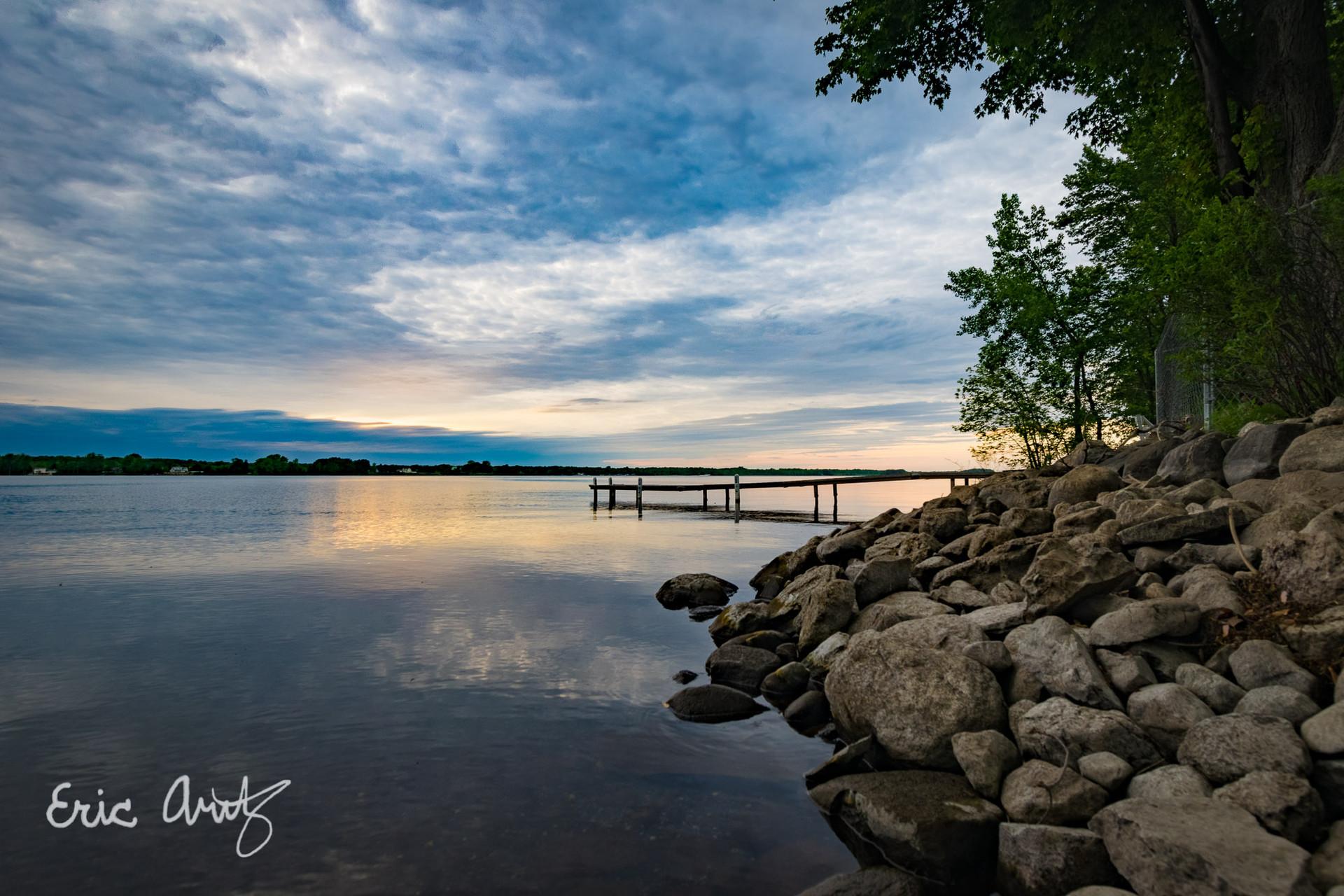 Peaceful Sunset, Lake Champlain