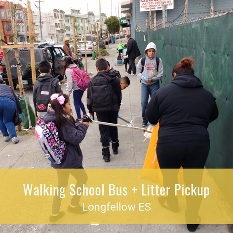 Walking School Bus + Litter Pickup