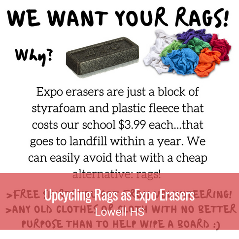 Upcycling Rags as Expo Markers