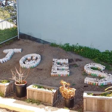 Milk Carton Garden at Jose Ortega ES