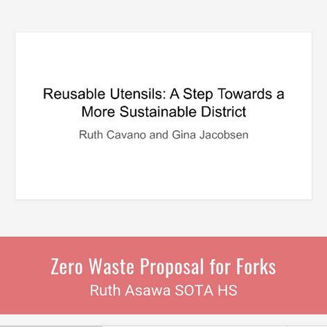 Zero Waste Proposal for Forks