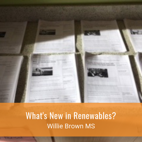 What's New in Renewables?