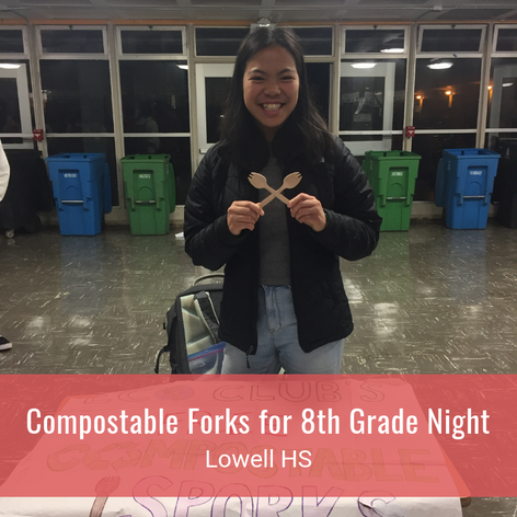 Compostable Forks for 8th Grade Night