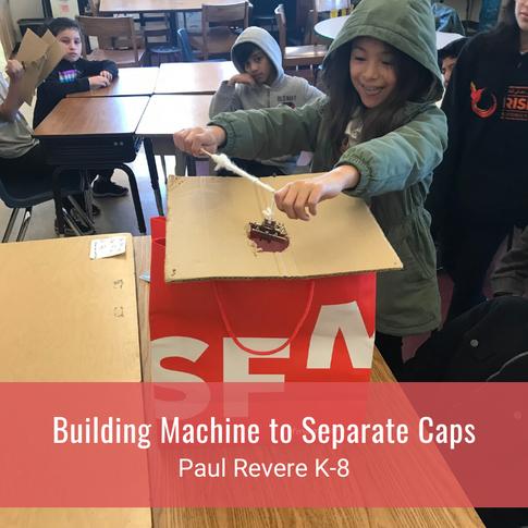 Building Machine to Separate Caps