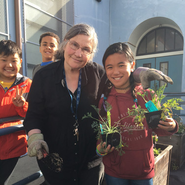 Planting Bee and Butterfly Habitats at Lafayette ES