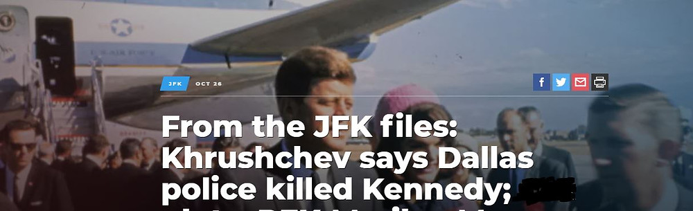 The KGB knew who killed JFK