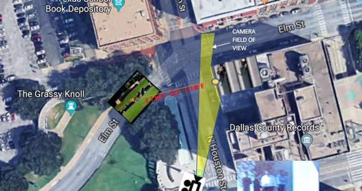 Bell Frame Dealey Plaza Satellite View a