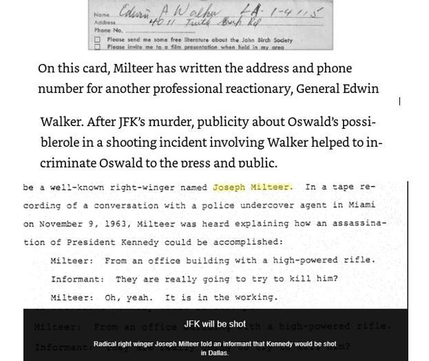 Joseph Milteer's associate General Edwin Walker