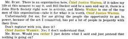 Ruby mentions Walker to Justice Warren