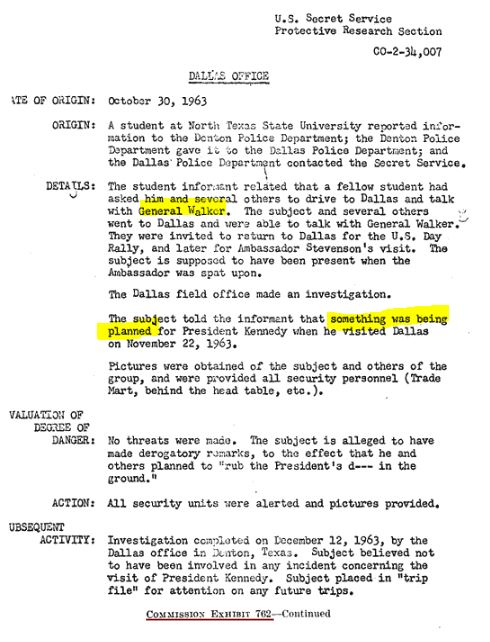 Secret Service: Gen Walker's threat