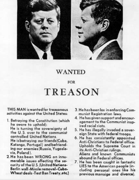 JFK Wanted for Treason handbill