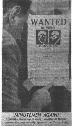 Minutemen poster in Dallas