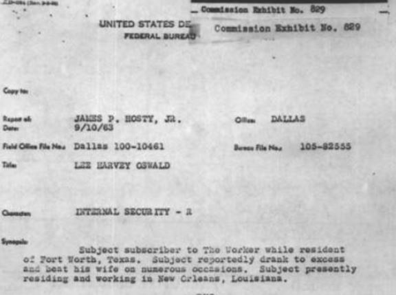James Hosty v. Lee Harvey Oswald