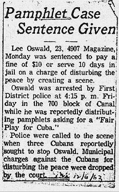 Lee Oswald fined $10