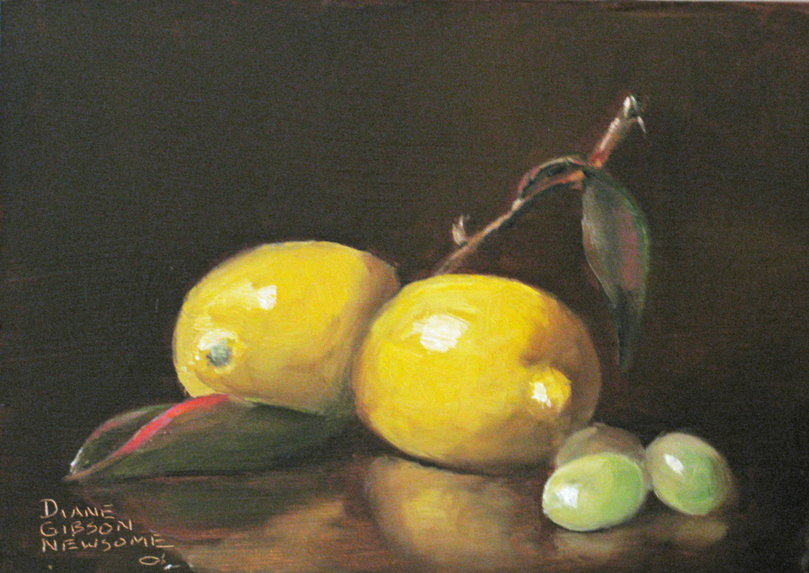 Lemons With Grapes