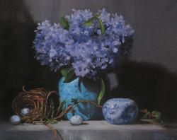 Hydrangeas With Nest