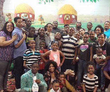 People having fun during party at Metro 24 Bowling Center