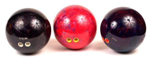 bowling balls with finger inserts