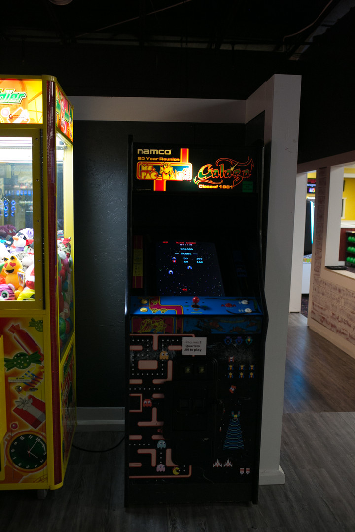 Galaga and Ms PacMan arcade game