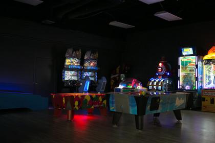 Air hockey and arcade games