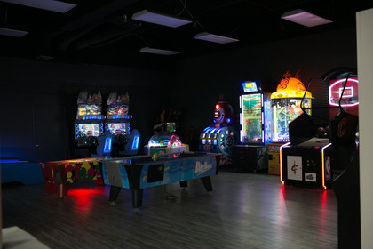Several games in the new arcade