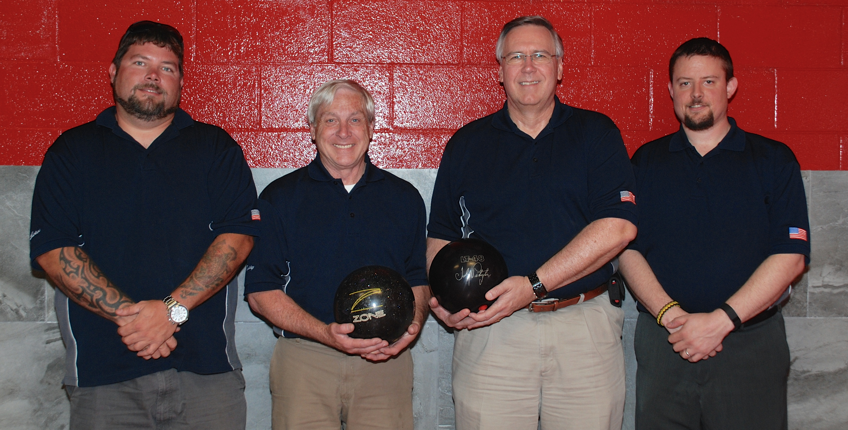 league bowling team 4 men