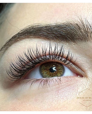 Classic lashes are 1 extension to 1 natu