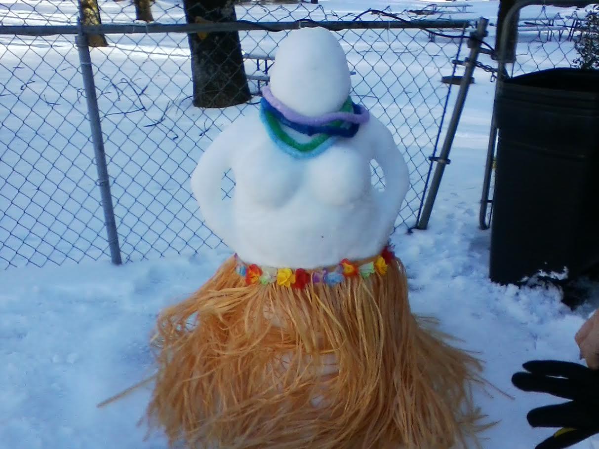 snowman lady