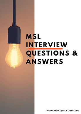 MSL INTERVIEW QUESTIONS & ANSWERS Cover