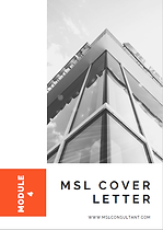 Medical Science Liaison Job - MSL Cover Letter