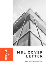 Medical Science Liaison Job - MSL Cover Letter
