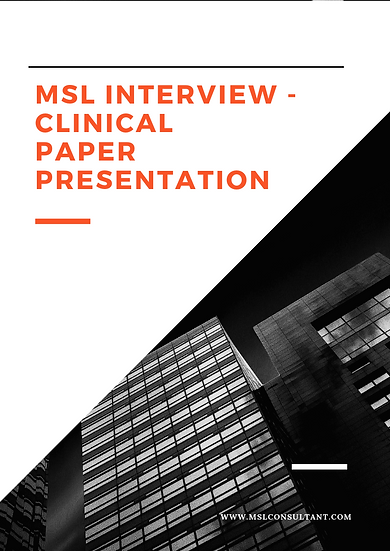 MSL Interview - Clinical Paper Presentation Guide