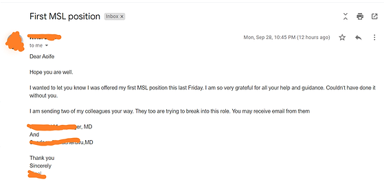 First MSL job testimonial No Experience required.png