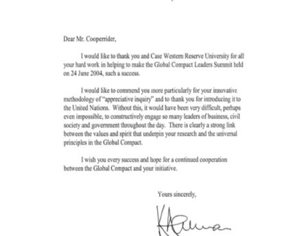 L'appréciative inquiry aux origines de l'entreprise citoyenne aux Nations Unies