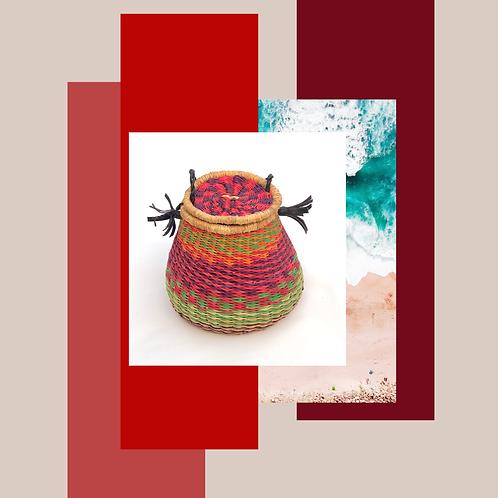 Fuchsia/Lime/Plum/Tangerine Stripped Mini Bag