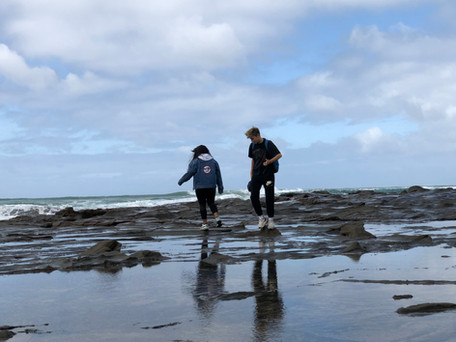 Students Gigi & Vax at Apollo Bay (Breaking barriers to health module)