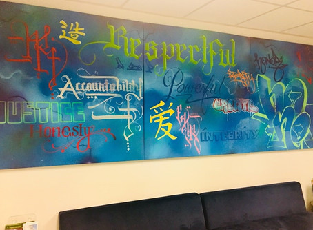 Graffiti Art Installed at the District Attorney's Office