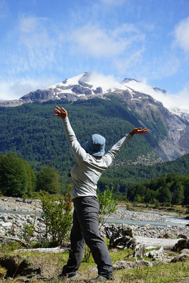 Student Gigi in patagonia