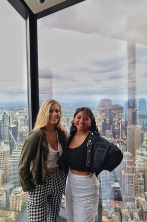 Students Gigi & Hanna at Eureka Skideck