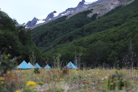 TGLE1 campsite in Patagonia