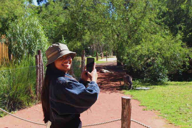 TGS student CM1 Gigi at Helaesville Animal Sanctuary