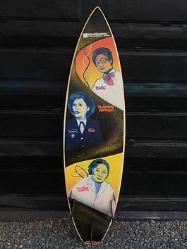 Irie Sesma's Surfboard BIOCOM Expo 2019